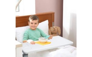 Vaunn Medical Deluxe Adjustable Overbed Bedside Table