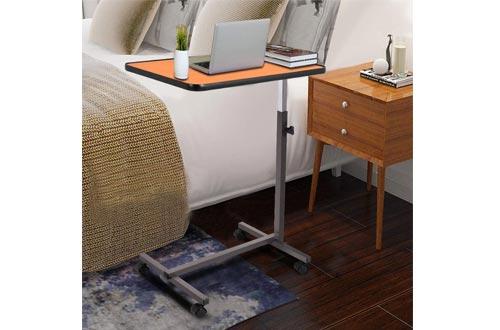 Goplus Overbed Table Adjustable Medical Bedside Table