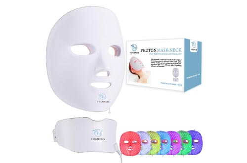 YOURFUN Rechargeable 7 Color LED Mask for Face