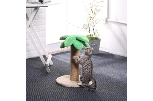 LUCKITTY Small Cat Scratching Posts Kitty Coconut Tree