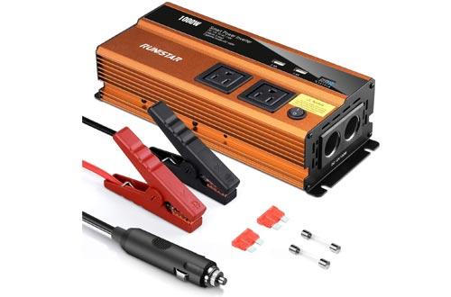 RUN STAR 1000W Power Inverter Car Plug Adapter Outlet