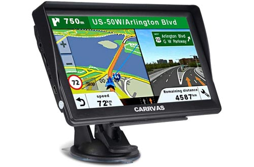 CARRVAS GPS Navigation for Car and Truck 7 Inch 2020
