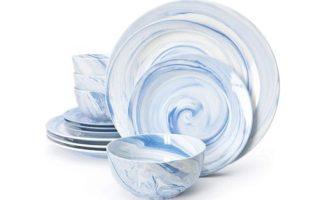 Divitis Home Fusion Porcelain Dinnerware Set 12 Piece