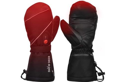 Heated Gloves,Mens Womens Heated Ski Gloves Mittens