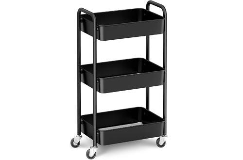 CAXXA 3-Tier Rolling Metal Storage Organizer