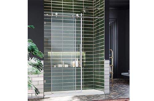 ELEGANT 60 in. W x 72 in. H Frameless Sliding Shower Door