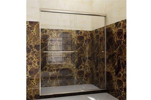 SUNNY SHOWER Frameless Glass Sliding Shower Door