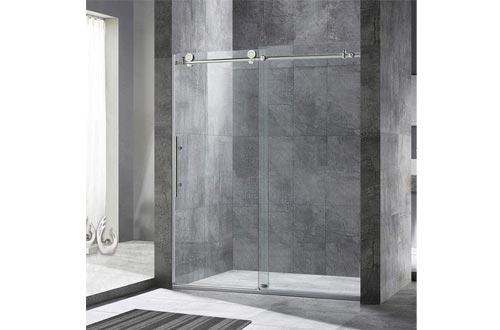 """WoodBridge Framelss 3/8"""" Sliding Shower Door"""