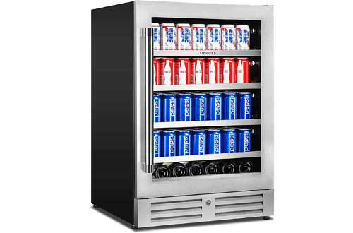 24 inch Stainless Steel Shelf System 154 Cans and 3 Bottles Built-in or Freestanding for Soda Beer