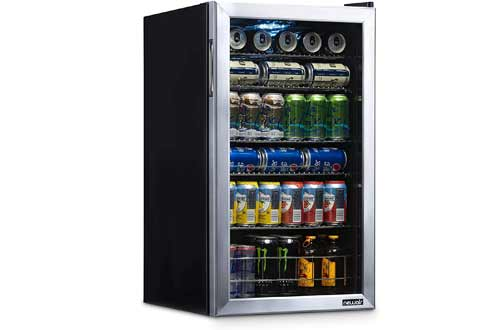 Mini Bar Beer Fridge with Right Hinge Glass Door - Cools to 34F - AB-1200 - Stainless Steel