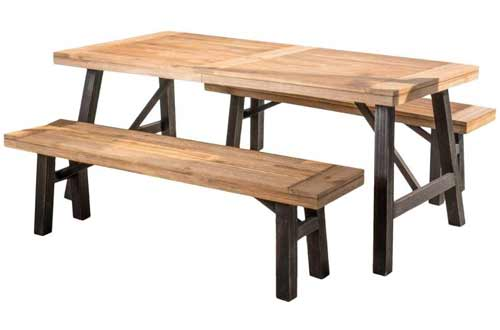 Christopher Knight Home Cottage Acacia Wood Set