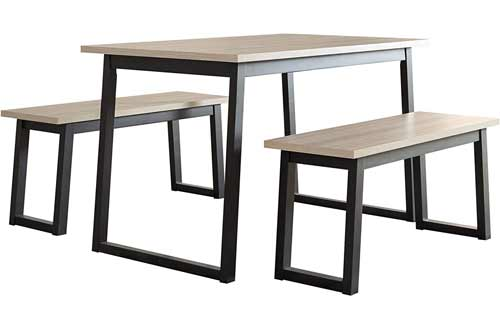 Signature Design by Ashley Waylowe Dining Room Table and Benches