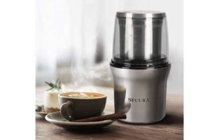 Spice Grinder with 2 Stainless Steel Blades