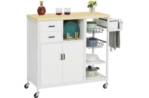 Kitchen Utility Trolley Cart with Drawers