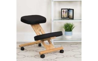 Mobile Wooden Ergonomic Kneeling Office Chair