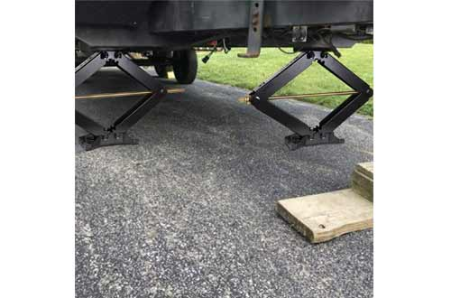 WEIZE Camper RV Trailer Stabilizer Leveling Scissor Jacks with Handle