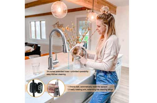 ARRISEA Touch-on Activation Kitchen Sink Faucets