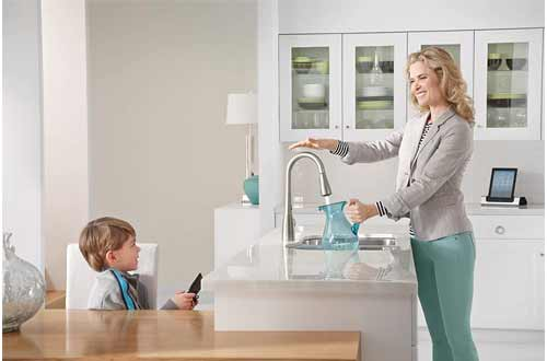 Two-Sensor Touchless One-Handle Pulldown Kitchen Faucet
