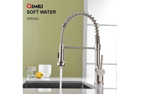 GIMILI Kitchen Faucet with Pull Down Sprayer