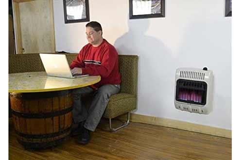 Vent-Free 10,000 BTU Blue Flame Natural Gas Heater