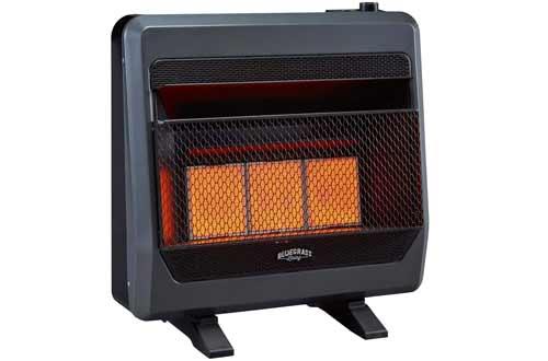 Bluegrass Living B30TNIR-BB Natural Vent Free Infrared Gas Space Heater