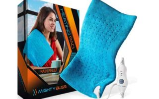 MIGHTY BLISS Large Electric Heating Pad for Back Pain and Cramps Relief