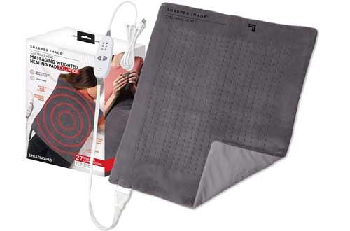 Calming Heat XXL-Wide Massaging Weighted Heating Pad