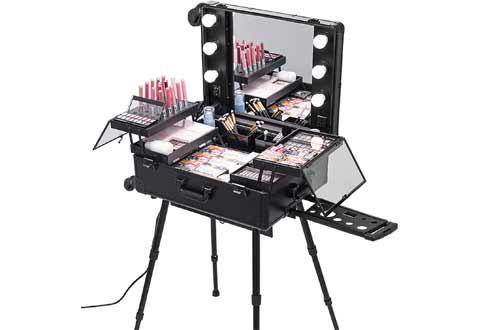 Happybuy Rolling Makeup Case