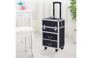 Large Professional MUA Vertical Rolling Full Makeup Travel Train Case