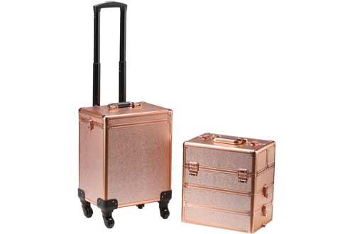 Portable Makeup Train Case Professional Cosmetic Organizer