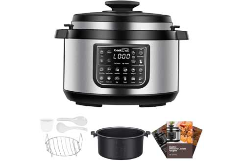 Geek Chef 8 Qt 12-in-i Multiuse Programmable Electric Pressure Cooker Oval