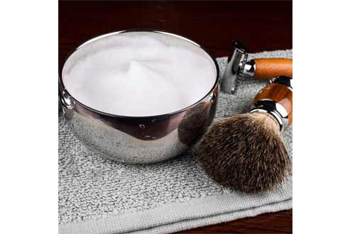 QSHAVE Stainless Steel Shaving Bowl with Lid