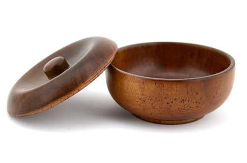 Grandslam Wooden Shaving Bowl with Lid