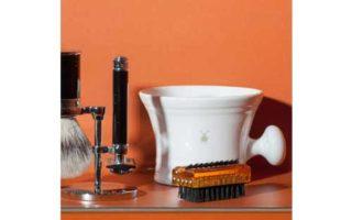 MÜHLE White Porcelain Platinum Rim Shaving Mug