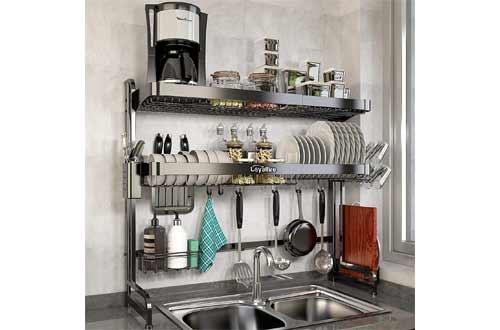 Expandable Dish Drainer Shelf Rack