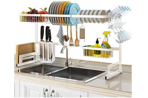 SLENPET Over The Sink Dish Drying Rack