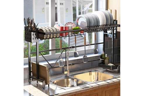 Stainless Steel Kitchen Drainer Countertop Organizer