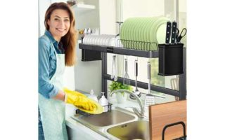Stainless Steel Over Sink Dish Drying Rack