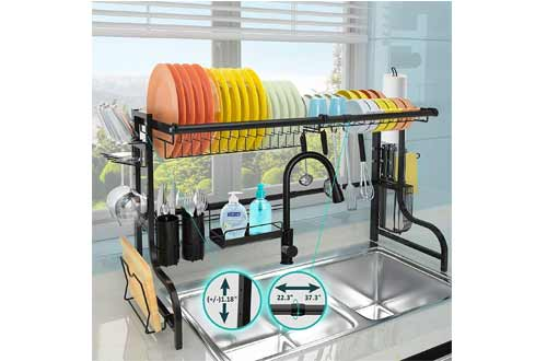 JZBRAIN Over the Sink Dish Drying Rack