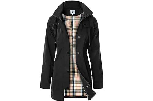 Women's Long Hooded Rain Jacket Outdoor