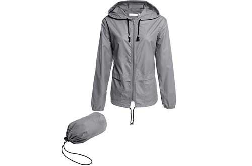 Women Lightweight Waterproof Rain Jackets
